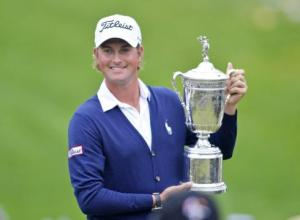 Webb Simpson: Shown here after his victory at Olympic Club, his patience down the stretch was impressive,